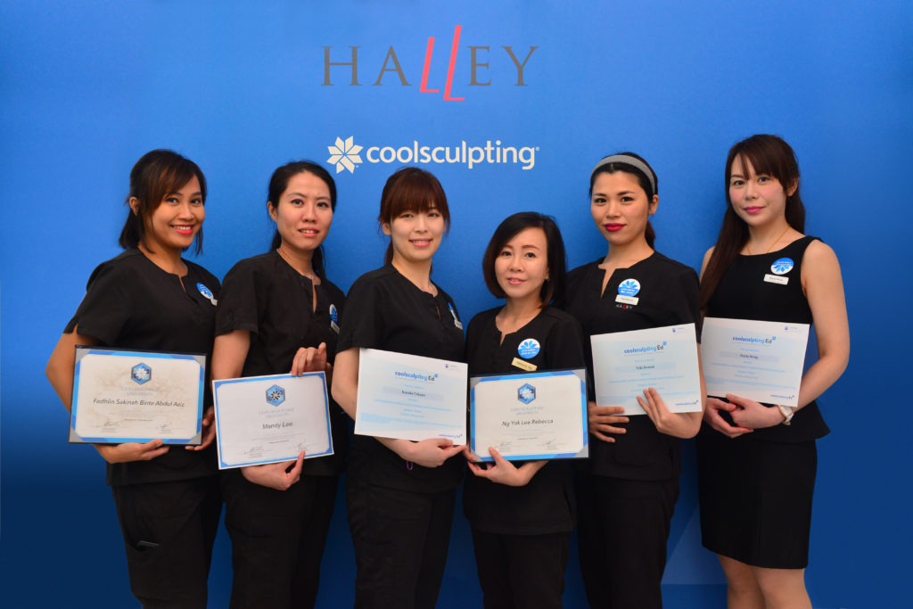 halley Medical Aesthetics, Halley Body SLimming CLinic, Dr Terence Tan, CooLSculpting, Trained therapist, fat freeze, CooLSculpting Singapore, Fat reduction COolSculpting, CoolSculpting fat reduction